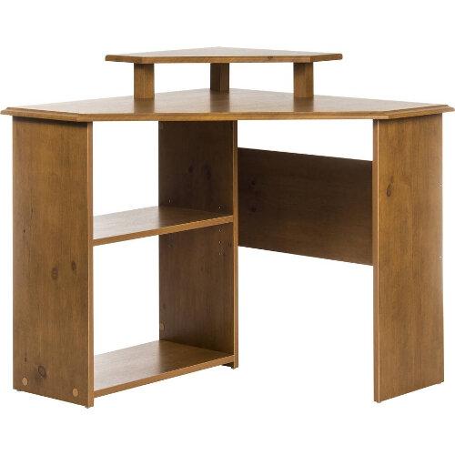 French gardens range traditional design corner desk antique pine effect - Pine office desk ...