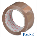 Sellotape Cellux Packing Tape Economy General Purpose 48mmx50m Buff (Pack 6)