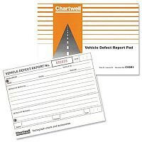 Vehicle Defect Report Book 50 Sheets CVDR1 Chartwell