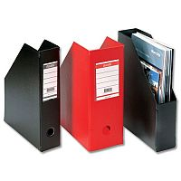Black Magazine Rack File Jumbo Plastic A4 110mm Pack 5 Bantex Concept