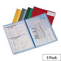Rexel Nyrex A4 Flat File with Pocket Red 13035RD Pack 5