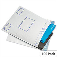 GoSecure White C3 Extra Strong Polythene Protective Envelopes Pack of 100