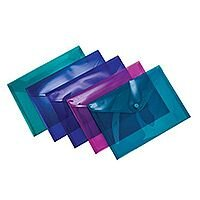 Concord Stud Wallet File Vibrant Polypropylene A5 Assorted Ref 7090-PFL Pack 5