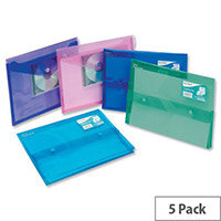Snopake Polyplus Electra Wallet File Heavy-duty Polypropylene Assorted A4