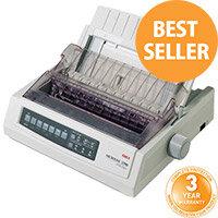 OKI Microline 3320eco Monochrome Printer Dot-Matrix - 9 pin - 240 x 216 dpi - Up to 435 char/sec - Parallel, USB 2.0