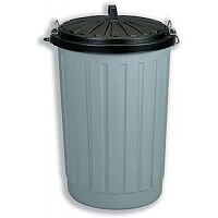 Dustbin Round Composite with Lid plus Locking Clips 90 Litres AG813411