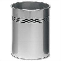 Durable Round Silver Bin 15 Litres 3300/23
