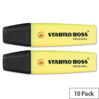 Stabilo Boss Highlighters Yellow Pens Pack 10
