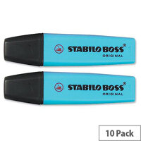 Stabilo Boss Highlighters Blue Pens Pack 10