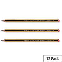 Staedtler 2B Noris Pencil Cedar Wood Orange Cap Pack 12