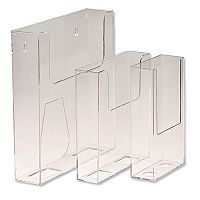 Deflecto Leaflet Holder 1/3 of A4 Portrait Clear Ref 76001