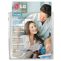 Flatback Literature & Brochure Holder A4 Wall Mounted Portrait Clear Deflecto