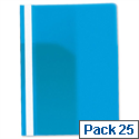 Rexel Data Flat File PVC A4 Blue 12600BU Pack 25