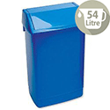 Plastic Flip Top Waste Bin 54 Litres Blue Addis