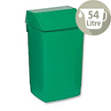 Plastic Flip Top Waste Bin 54 Litres Green Addis