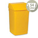 Plastic Flip Top Waste Bin 54 Litres Yellow Addis