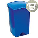 Plastic Waste Bin 48 Litres Capacity Lift-Up Top Blue 9715
