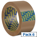 Sellotape Buff Case Sealing 50mm x 66m Packing Tape (6 Pack)