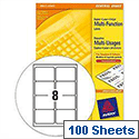 Avery 3427 Multi-Function Labels 8 per Sheet White 800 Labels