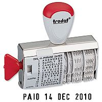 Trodat 1117 Dial-A-Word Line Dater & Phrase Stamp 54345