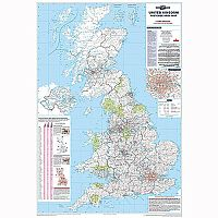 UK Postcode Area Map Unframed Map Marketing BIPA