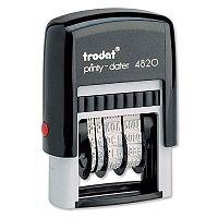 Trodat Printy Dater 4820 Stamp Black Refillable 3.8mm