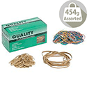 Rubber Bands Assorted Sizes Box 454g Quality