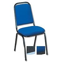 Banquet Stacking Chair Upholstered Blue with Black Frame Trexus