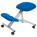 Kneeling Chair With Height & Angle Adjustment Steel Framed Blue Trexus