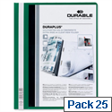 Durable Duraplus Quotation File PVC A4 Green Box 25