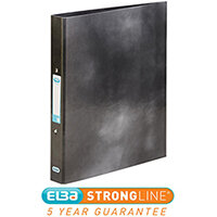 Elba Classy Ring Binder A4 2 O-Ring 25mm Laminated Metallic Black 400017753 [3 for 2] Jan-Dec 2019