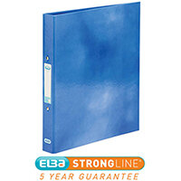 Elba Classy Ring Binder A4 2 O-Ring 25mm Laminated Metallic Blue 400017754 [3 for 2] Jan-Dec 2019