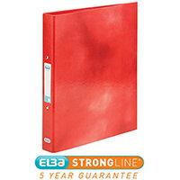 Elba Classy Ring Binder A4 2 O-Ring 25mm Laminated Metallic Red 400017755 [3 for 2] Jan-Dec 2019