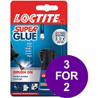 Loctite Super Glue Easy Brush in Anti-spill safety Bottle 5g Ref 87819150 (3 For 2) Apr-Sep 2019