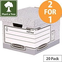 Bankers Box by Fellowes Standard Storage Box Foolscap FSC Ref 00810-FF Pack of 10 (2 for 1) Jan-Mar 20