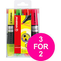 Stabilo Luminator Highlighter Assorted Ref 71/4 Pack of 4 (3 for 2) Jan-Mar 2020