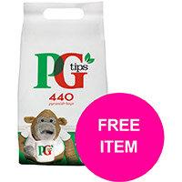 PG Tips Tea Bags Pyramid Ref 67395657 (Pk 440) (Buy 2 Get Free Haribo Giant Strawbs Bag 180g) Jan-Mar 20