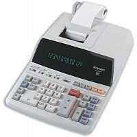 Sharp Printing Calculator Mains-power 12 Digit EL2607R
