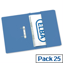 Foolscap Transfer Spring File with Pocket Recycled Blue 32mm Pack 25 Elba Stratford