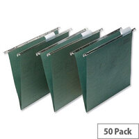 Elba Vertic Foolscap Suspension File Green with Tabs and Inserts E8592214 Pack 50