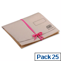 Deed Legal Wallet with Security Ribbon Foolscap Buff Capacity 51mm Pack 25 Elba