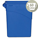 Rubbermaid Slim Jim Recycling Bin with Handles W279xD587xH630mm 60 Litres Blue 3541-73-BLU