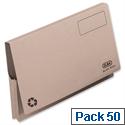 Document Wallet Full Flap Foolscap Buff Pack 50 Elba