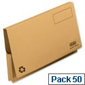 Document Wallet Full Flap Foolscap Yellow Pack 50 Elba