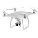 DJI Phantom 4 Quadrocopter Drone White 4K Camera