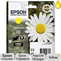 Epson T1804 Inkjet Cartridge Capacity 3.3ml Yellow Ref C13T18044010