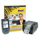 Wasp Mobile Asset Manager with WPA1200wm Mobile Computer and WPL305 Desktop Barcode Printer