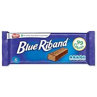 Nestle Blue Riband Milk Chocolate Covered Wafer Biscuits Individually Wrapped (Pack 8) Ref 12173708