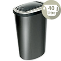 Addis Press Top Bin with Inner Liner 40 Litre W380xD280xH600mm Black Ref 508419