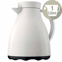 Emsa Mambo Vacuum Jug Easy Clean 1 Litre Liners Made of Glass White Ref 517467